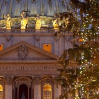 Basilica at Christmas, St Peter's Square,St Peter's Basilica